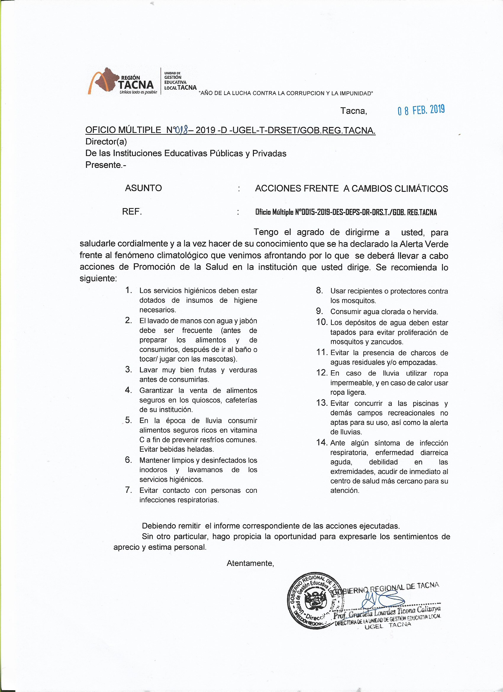 Ugel Tacna Normatividad Oficios